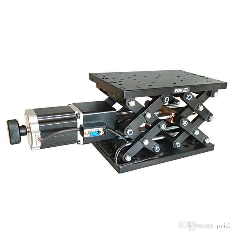PT-GD402 전기 리프팅 플랫폼, 전동 실험실 잭, 엘리베이터, 광학 슬라이딩 리프트, 110mm 이동