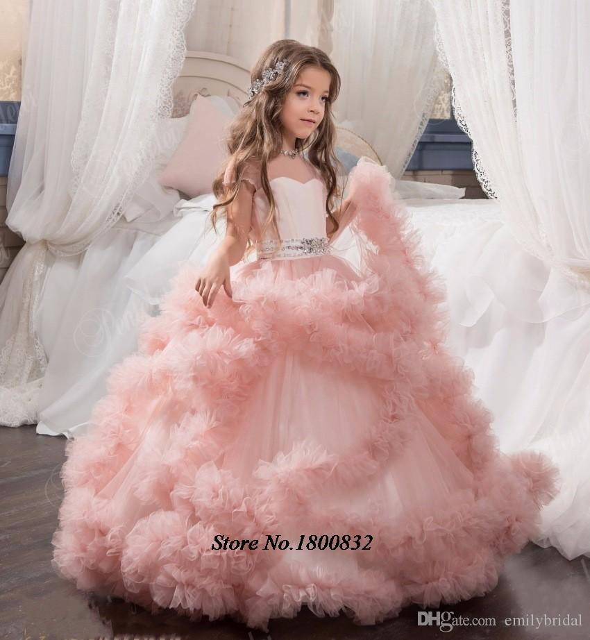 New Arrival Glitz Pageant Dresses Ball Gown Crystal Kids Frock ...