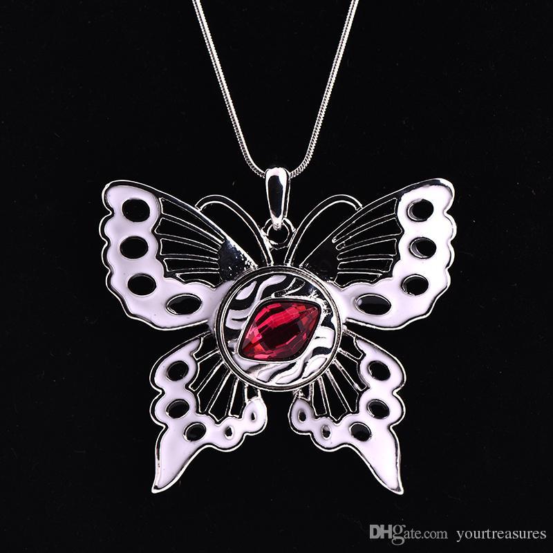 10 Pcs Papillon 18 MM Bouton Gingembre Snap Boutons DIY Interchangeable Pour Les Femmes Déclaration Collier Bijoux 2017 Avril Style