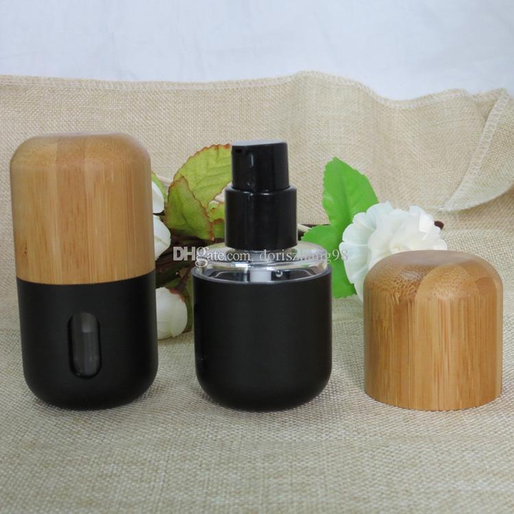 Freies Verschiffen hohe Qualität 30ml Bambus Lotion-Flaschen, 30ml Bambus-Flaschen für Sahne
