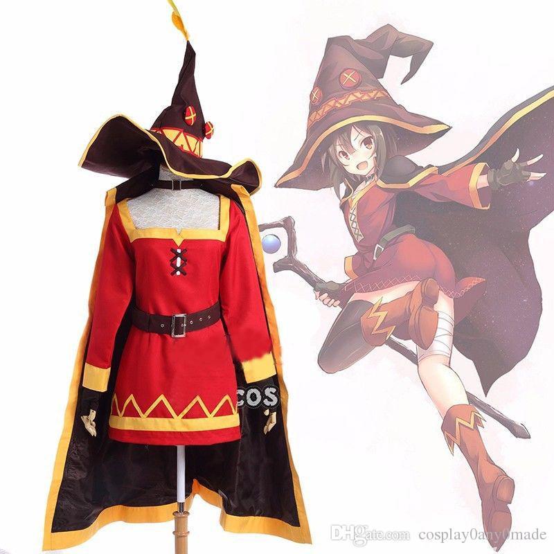 KonoSuba God's Blessing on this wonderful world Megumin Cosplay Costume New