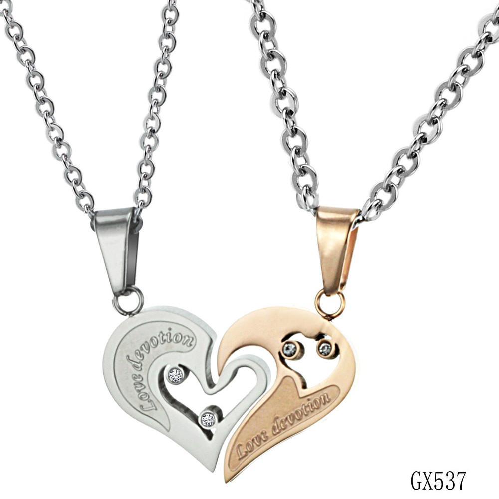 439ac56b96 Korean Couple Necklace Titanium Necklaces Pendants Cute Necklaces For Couples  Matching Necklaces For Couples GX537