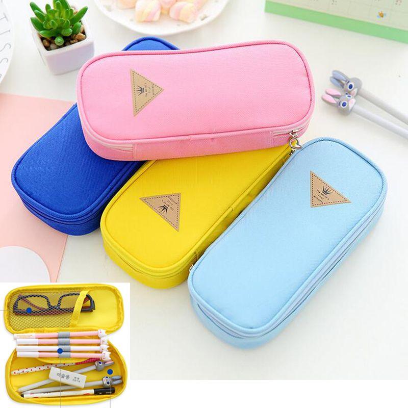 Pencil Case Supplies, Pen Box Pouch Boxes For School Students Kids, Cute Pen Pouch Canvas Storage Bag