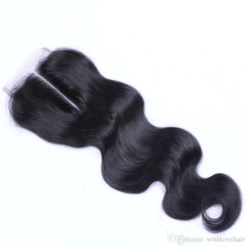 브라질 버진 사람의 머리카락 4X4 레이스 클로저 페루 말레이시아 인디언 몽골 바디 웨이브 Straight Loose Deep Kinky Straight Closures