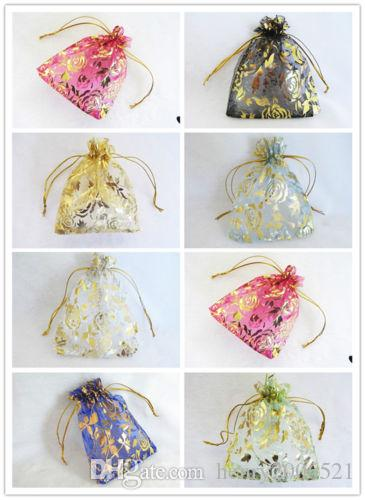 """120PCS Wholesale Lot Gorgeous Organza 5""""x4"""" Gift Bags Organza Wedding Party Gift Jewellery Bags Pouches"""