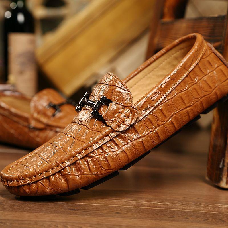 Neue Ankunft Männer Müßiggänger Freizeitschuhe British Fashion Herrenschuhe Mokassins Echtem Leder Loafers Handgemachte Männer Wohnungen Schuhe 2A