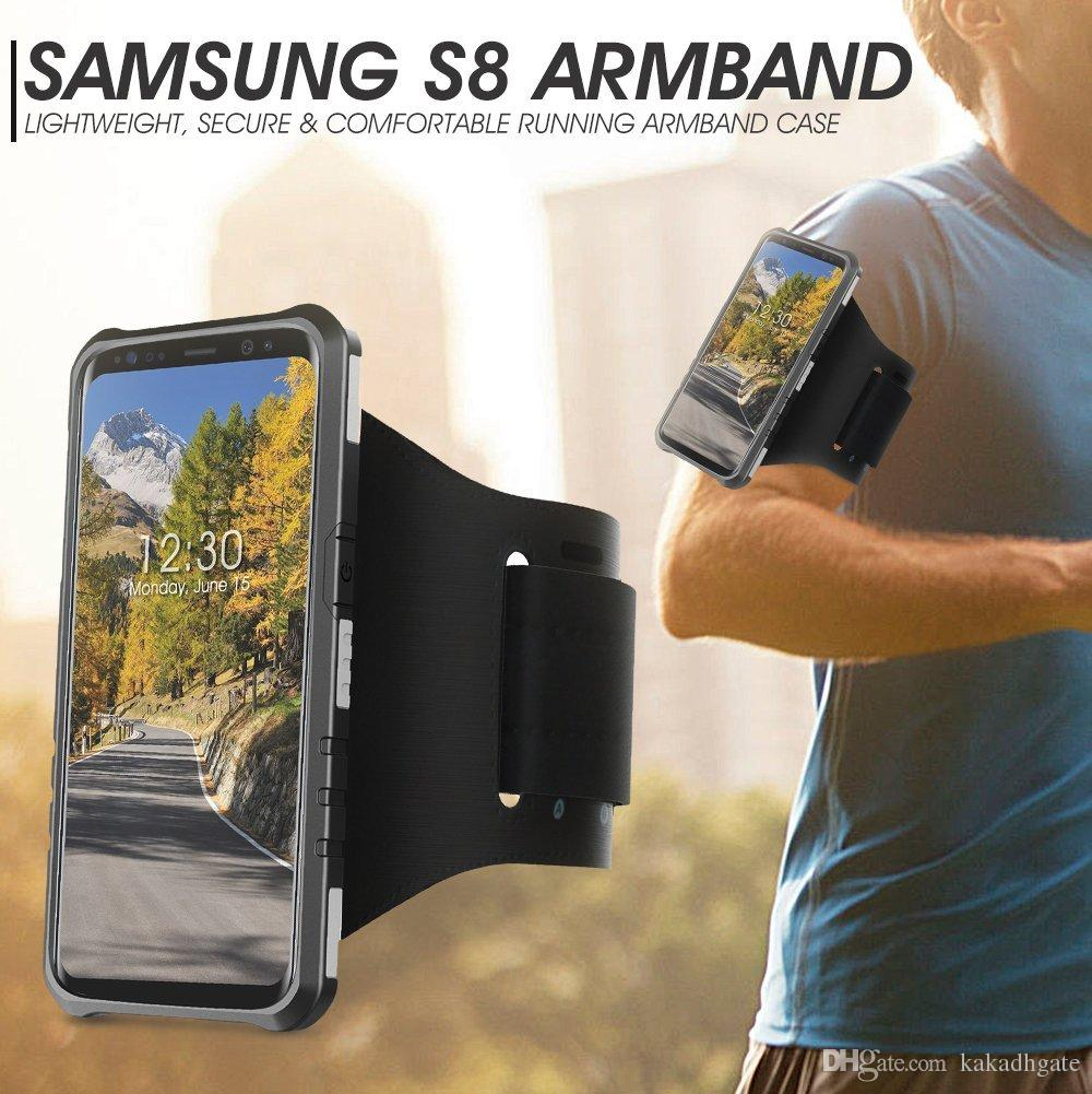 online retailer 260d7 4258e Galaxy S8 Armband Samsung Galaxy S8 Anti Shock Protective Hard Shell Case  With Sport Running Armband For IPhone7 Samsung S8 2017 Design Cell Phone ...