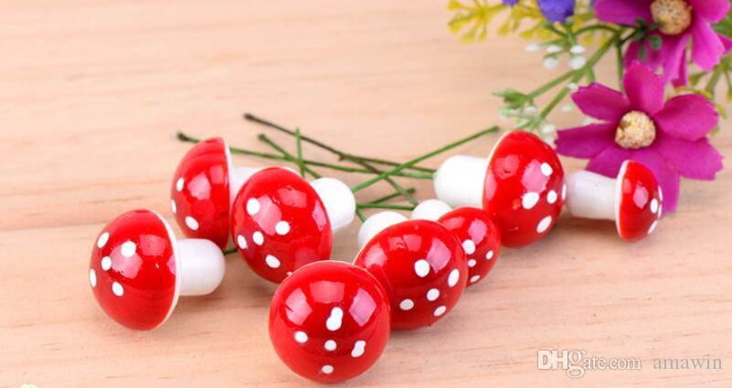 Mini Landscaping Plant Mushroom for Miniature Fairy Garden Patio Home Houses Decoration and Mini Craft DIY Accessories