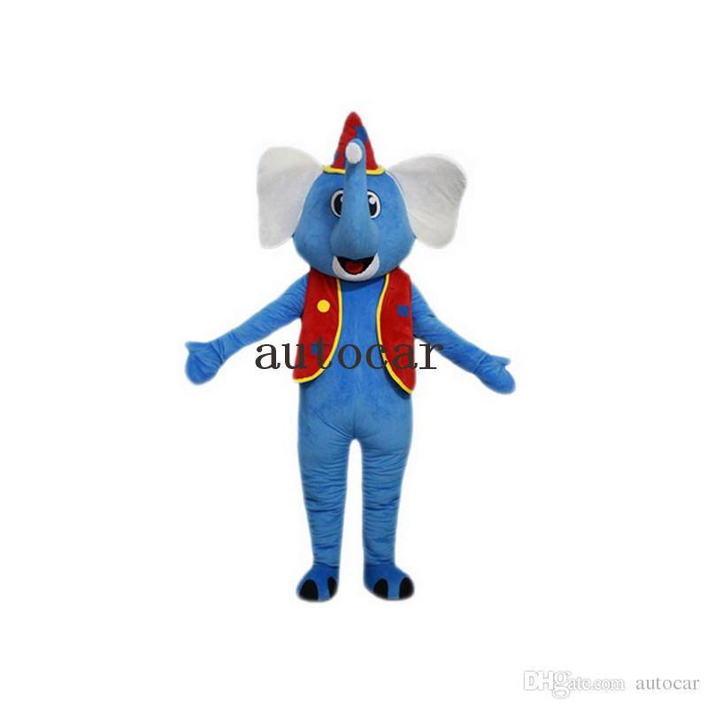 Cirque Elephant Costume Costume Mascot pour les adultes noël Halloween Outfit Fantaisie Robe Costume Livraison Gratuite