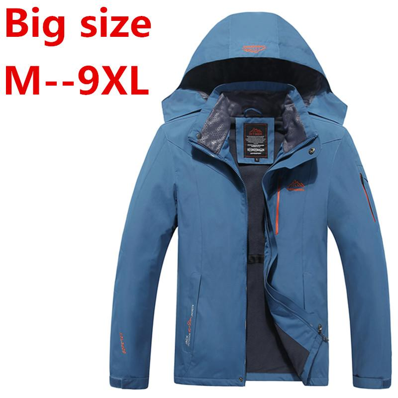 Vente en gros- 8XL 6X hiver hommes vestes thermique jaqueta veste épaisse manteau hommes veste outwear imperméable coupe-vent