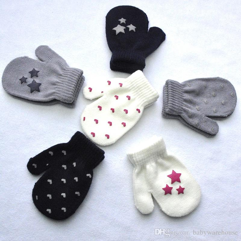 2018 Kids Knitted Gloves Mitten Baby Winter Gloves Infant Baby Mittens For The Boy Girls Soft Warm Full Finger Gloves Children Mittens 1-5T