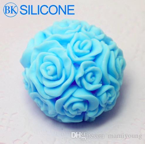 2015 Time-Limited Rose Silicone Soap Molds Candle Mould Cake Decorating Tools AF003 1PCS BKSILICONE