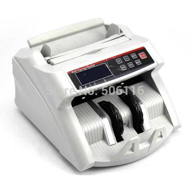 Vente en gros- 2200D Compteur d'argent d'affichage numérique Convient pour EURO US DOLLAR Bill Compteur Cash Comptage Machine