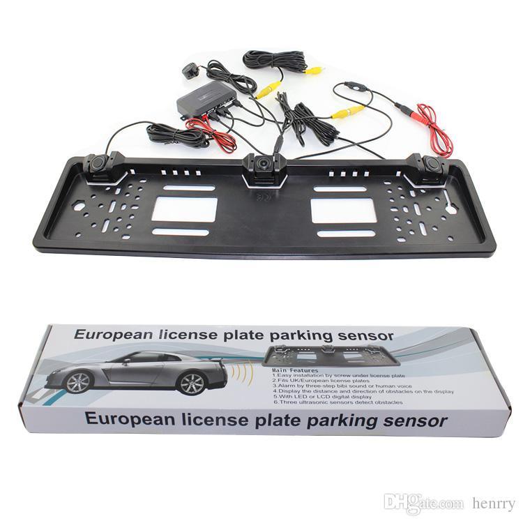 European License Plate Car Parking Sensor PZ600L Four Sensors Human Voice Bibi Sound Alarm 64 Colors To Choose