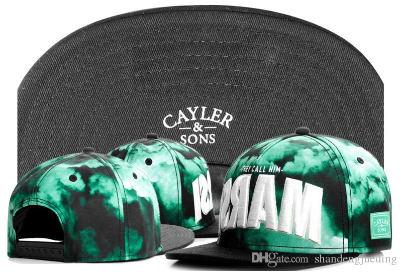 새로운 Cayler 아들 모자 편지 야구 모자 뼈 Snapback 힙합 유행 편평한 모자 조정 가능한 모자