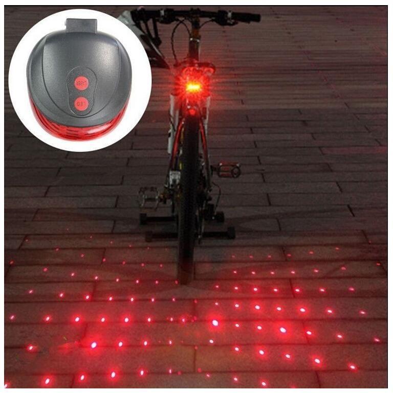 Ultra Bright Radfahren Fahrrad 5 LEDs Front Head Taschenlampe 9 LEDs Zurück Rear Flash Light Laser Rücklicht Bike Lamp Set