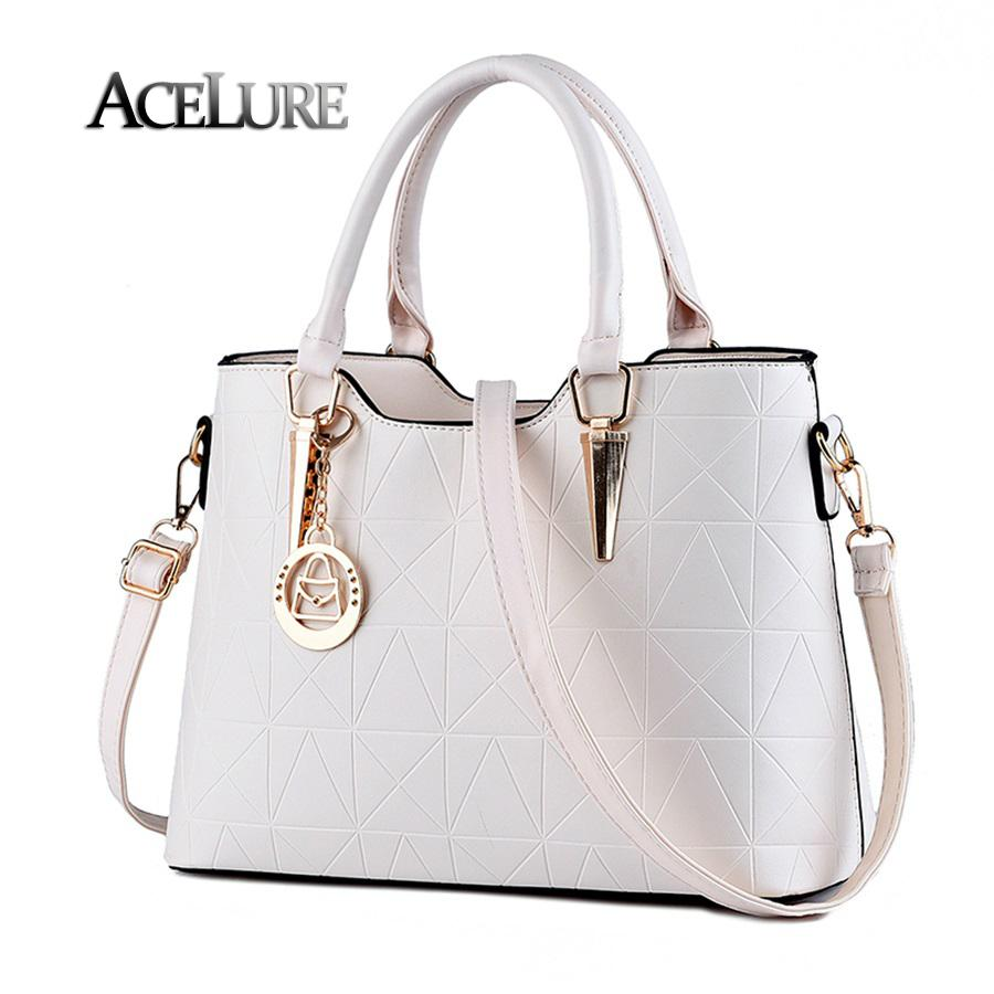 Wholesale- Handbags 2016 new pu female bag metal sheets decoration handbags sweet lady fashion handbags elegant women shoulder bags