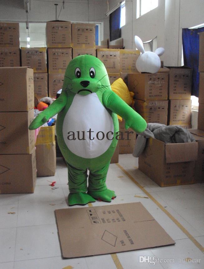 I prodotti di costume su ordinazione del costume della mascotte del personaggio dei cartoni animati del cane dei leoni di mare su ordine liberano il trasporto su ordine