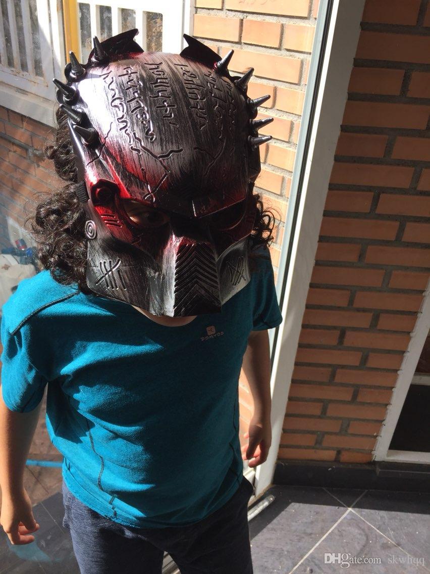 Yeni Cosplay Kalite Kostüm Topu Yabancılar VS Predator AVPR Kırmızı Göz Maskesi Cadılar Bayramı Dans Doğum Günü Partisi Masquerade --- Sevgiler