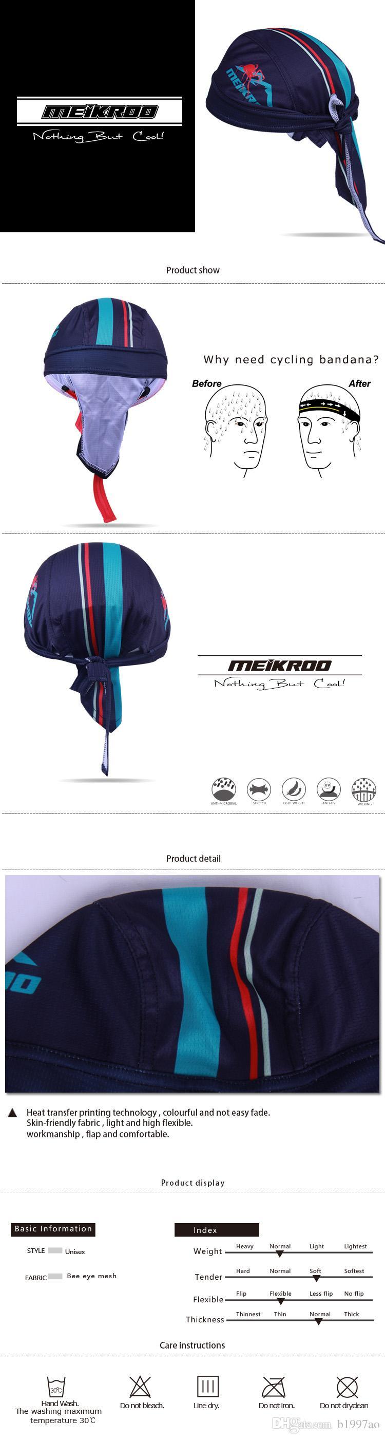 Leoie Berretto da Ciclismo Outdoor Quick Dry Sport Fascia Assorbimento di umidit/à Protezione Solare Copricapo