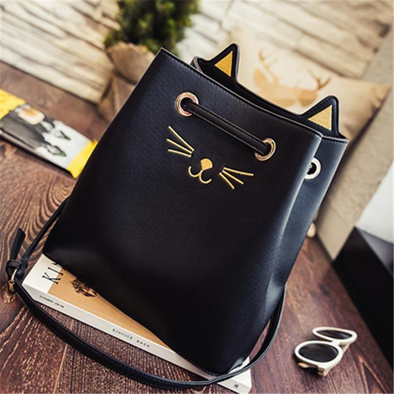 Katze Handtaschen Frauen Tragetaschen Mode Designer Handtasche Mode Dame Casual Nette Umhängetasche Hand Große Kapazität Taschen Für Damen