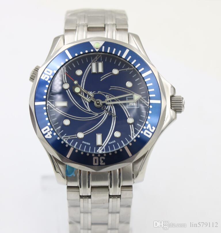 007 Kraliyet dalış yüksek kaliteli koaksiyel moda, hassas çelik kişilik otomatik erkek marka izle ücretsiz teslimat.