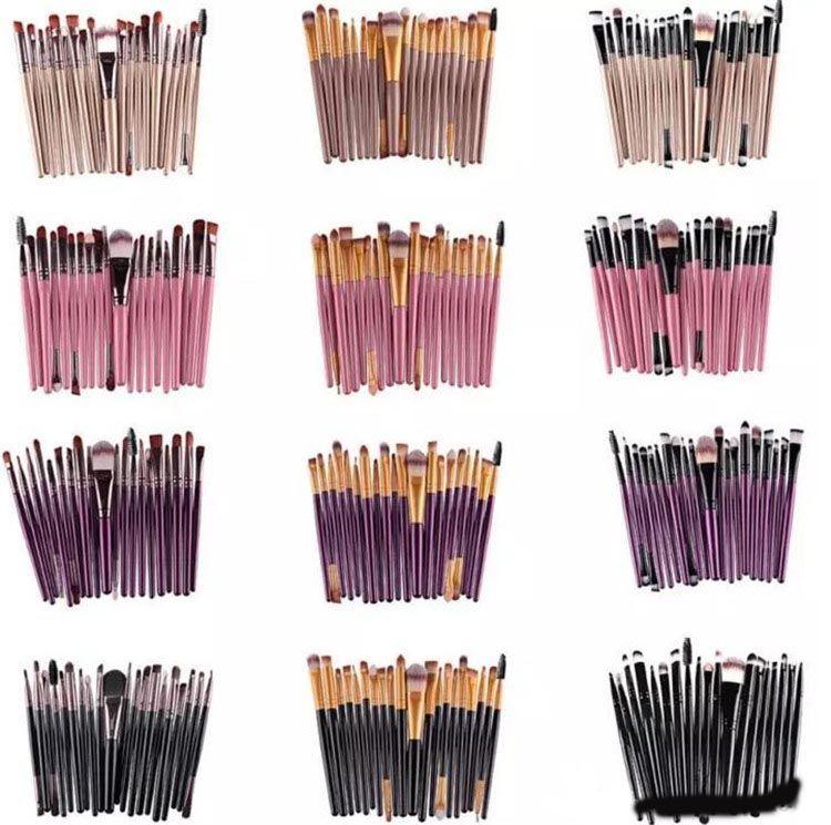 20Pcs 화장품 메이크업 브러쉬 세트 파우더 파운데이션 아이 섀도우 아이 라이너 립 브러쉬 도구 브랜드 메이크업 브러쉬 아름다움 도구 pincel maquiagemA08