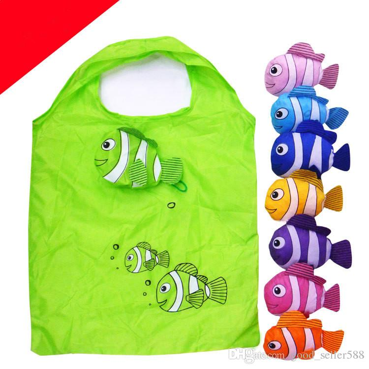 2017 Sale Cartoon Folding Clown Fish Shopping Bag Animal Eco ...