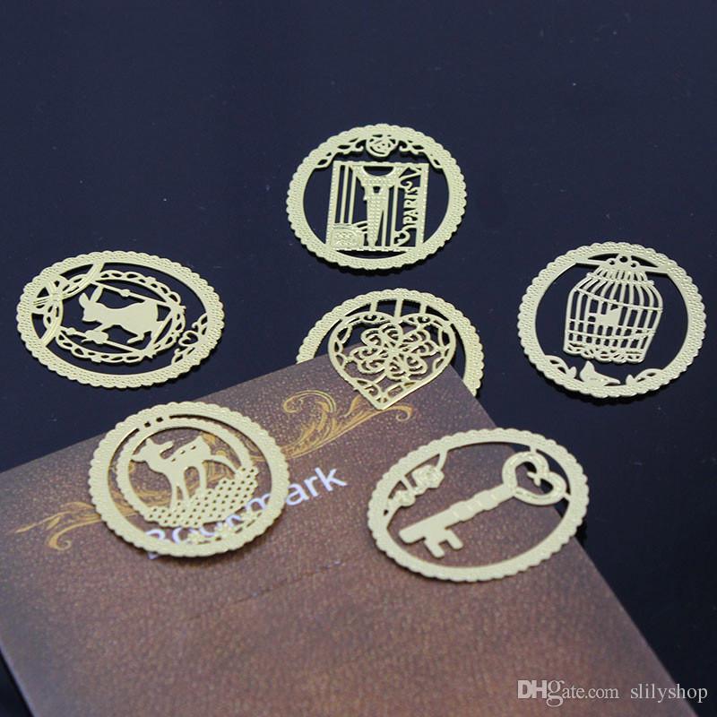 20PCS Kawaii metallo segnalibro moda Birdcage sei tipi di clip per i libri di carta scuola forniture per ufficio matrimonio in regalo di ritorno