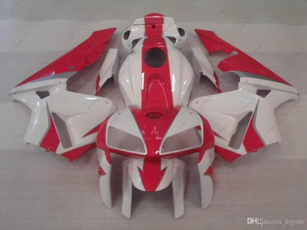 Обтекатель комплекты для Honda CBR600RR 06 ABS обтекатель CBR 600 RR 05 белый красный кузов CBR600 RR 2006 2005-2006