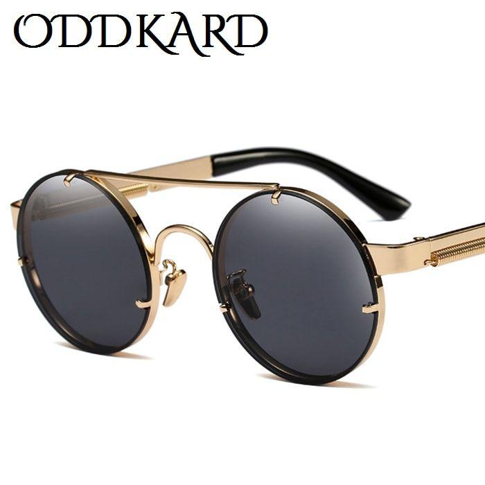 ODDKARD النظارات الشمسية الحديثة Steampunk للرجال والنساء العلامة التجارية مصمم جولة موضة نظارات الشمس oculos دي سول UV400