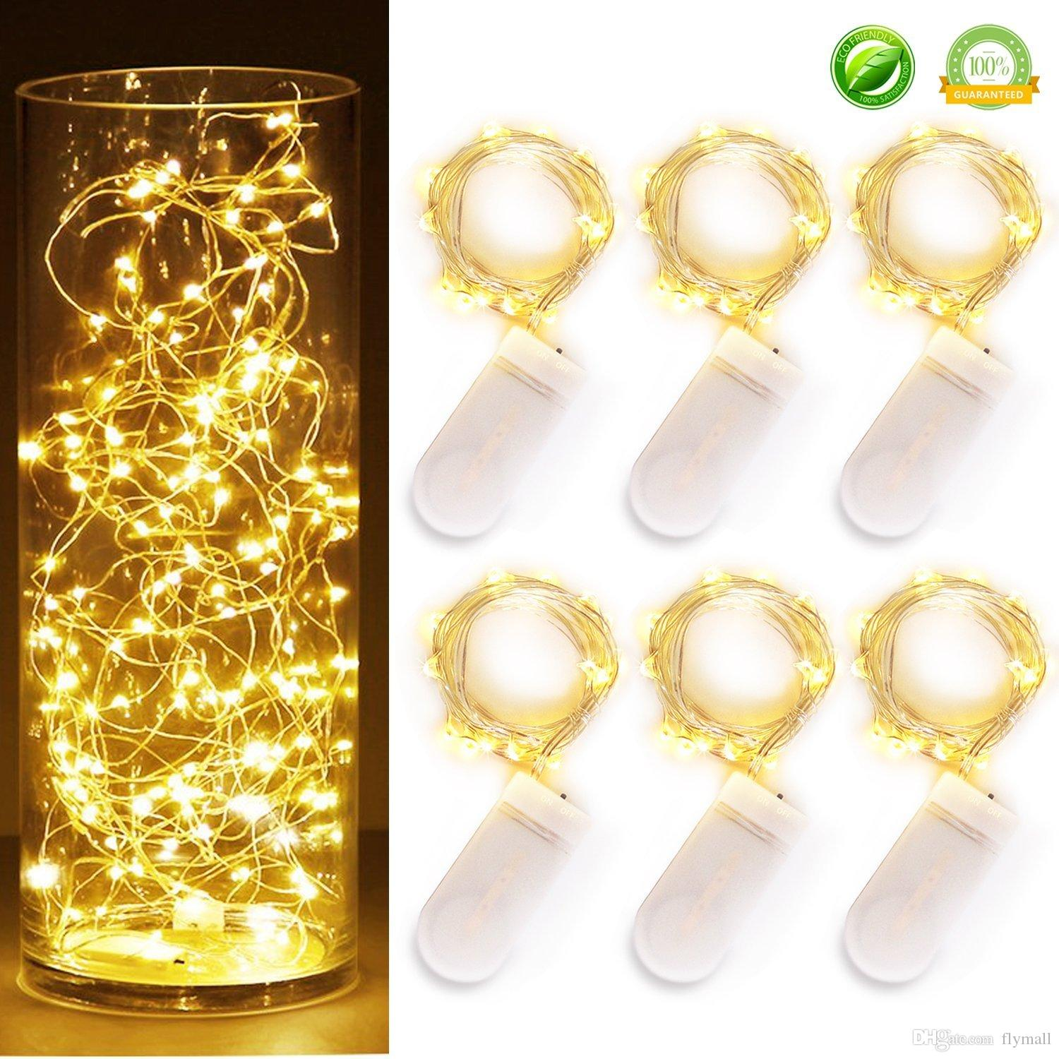Newest CR2032 battery operated 2M 20LEDS micro led fairy string light Copper Wire led string holiday light decorations led moon lights