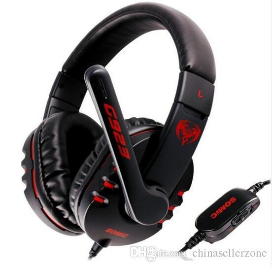 Somic G923 Stereo Surround Ses Oyun Kulaklık Aşırı Kulak Oyun Kulaklık Kafa Bilgisayar PC için Mic Ses Kontrolü ile Gamer
