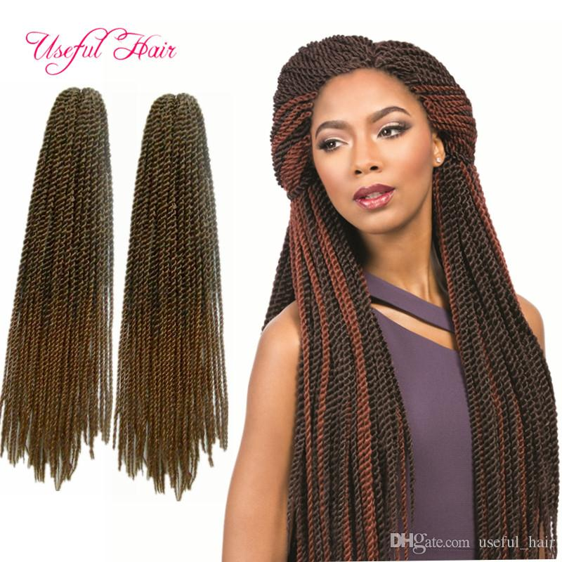 2019 Ombre Senegalese Twist Crochet Braid Hair Extensions Synthetic Afro  Pre Twist Synthetic Braiding Xpression Hair Extensions Marley Braids From