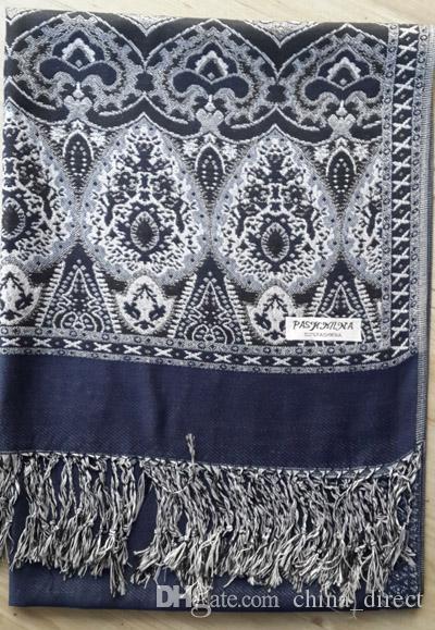 여성용 Pashmina 스카프 목도리 캐시미어 판초 포장 Ladies Womens shawl 스카프 9 PCS / LOT # 1400
