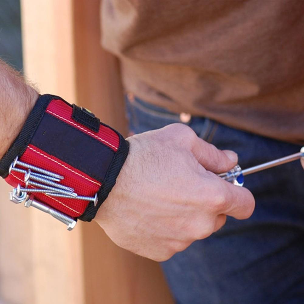 保持ネジ、ネイル、ドリルビットのための強い磁石を持つ磁性リストバンドあなたのツールバッグに最適な、自動修理に最適