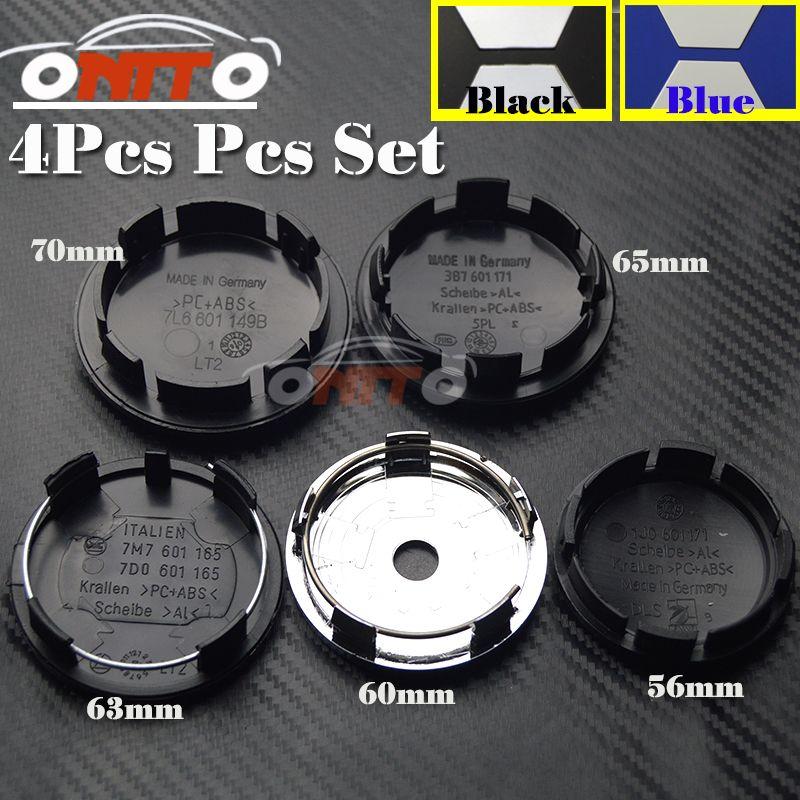 4Pcs 56MM 60MM 63MM 65MM 70MM Wheel Logo Cap Wheel hub Emblem Cover For Passat B6 B7 CC Golf Jetta MK5 MK6 Tiguan car kit