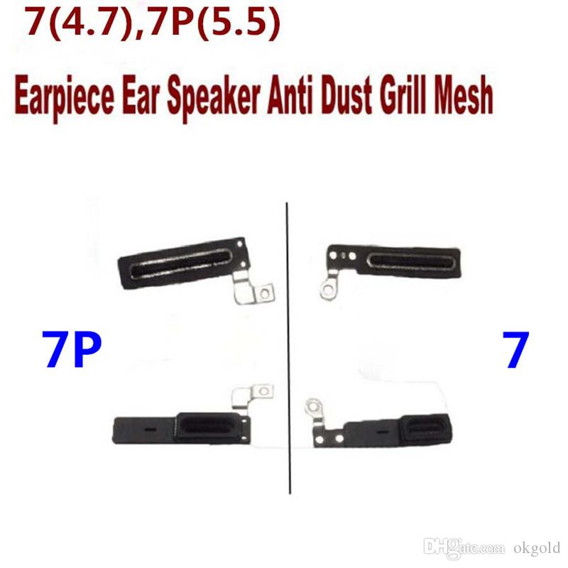 100% High Quality for iPhone 4 4S 5 5C 5S 6 6S 7 Plus Ear Speaker Rubber Adhesive Grill Anti-Dust Mesh (604IP)