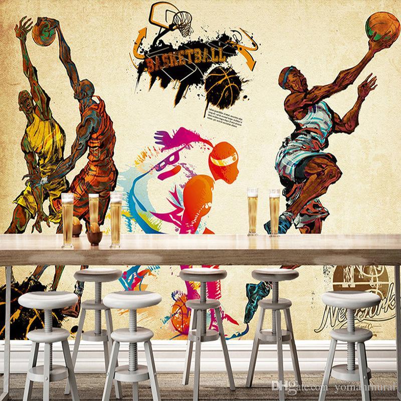 Maßgeschneiderte 3D-Stereo-Tapete Sport Turnhalle Yoga Basketball Stadion Spielplatz Tapete Wandbild für Wohnzimmer Schlafzimmer Wohnkultur