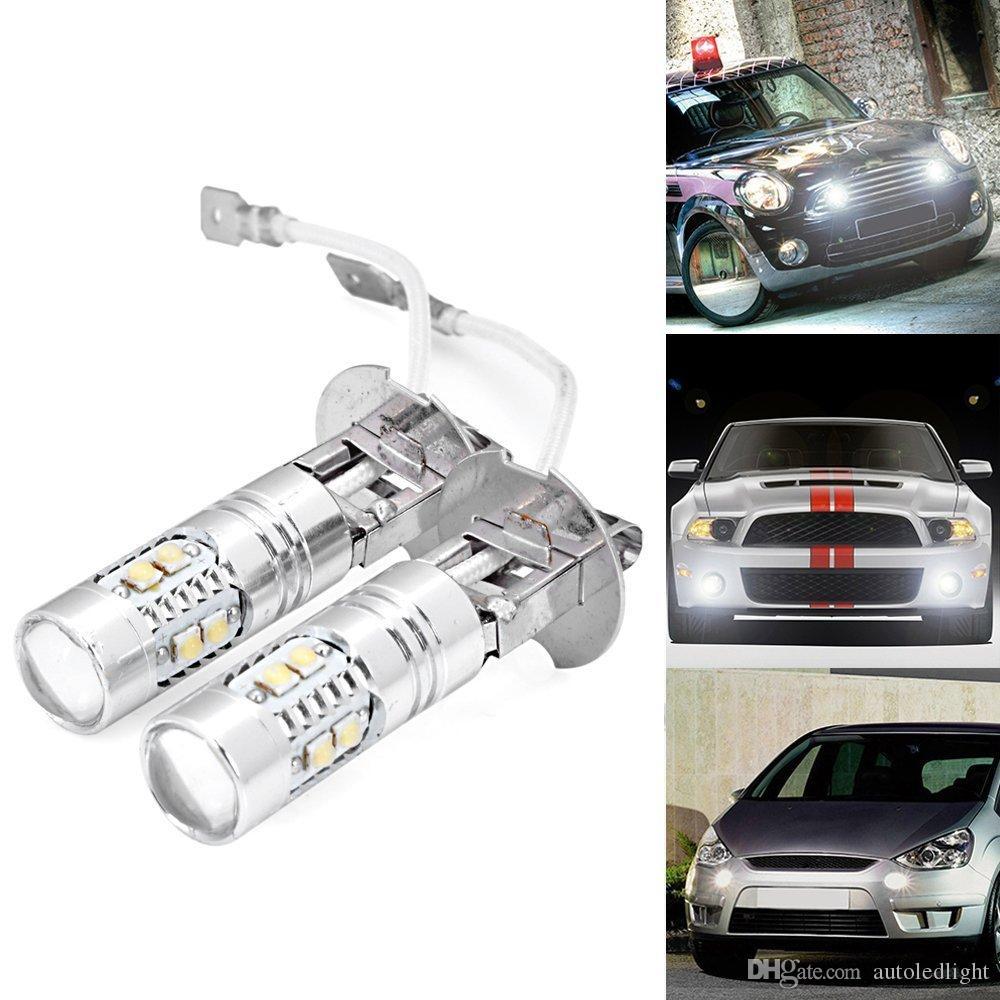 Lighting High Power 881 880 h1 h3 50W HID White 10 LEDs XBD-R LED Driving or Fog Light Bulbs