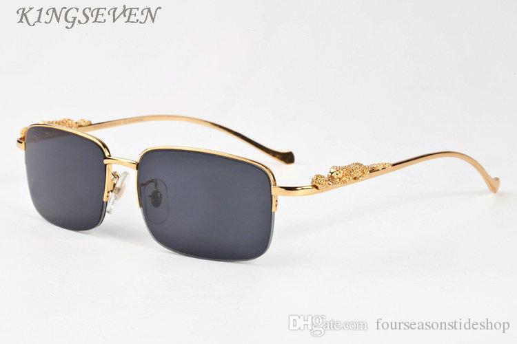 2020 빈티지 복고풍 여성을위한 폴라로이드 선글라스는 멋진 골드 실버 표범 무늬의 금속 프레임 무테 검은 갈색 투명 렌즈를 fashio 망