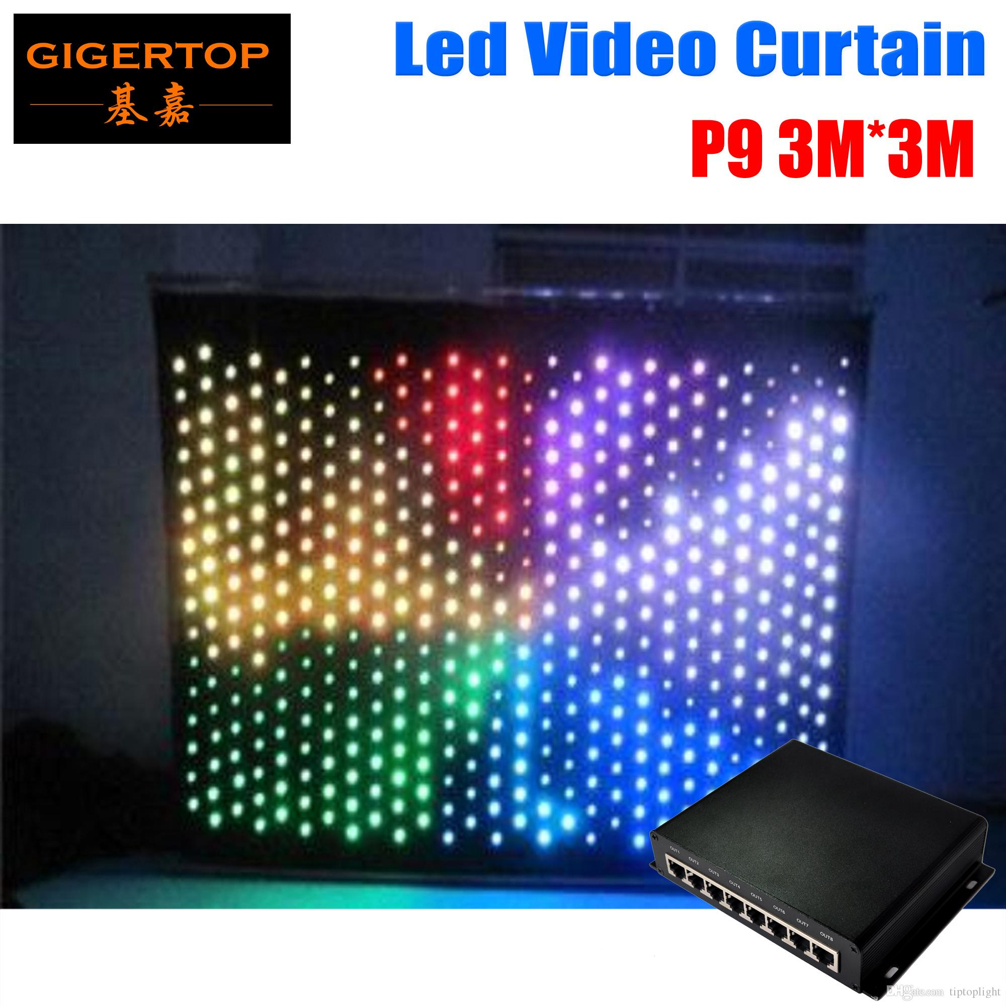 P9 3M*3M PC Mode Led Video Curtain,LED Graphic Curtain P9 With Tricolor 3IN1 Led Light Curtains,Stage Lighting DJ Backdrops