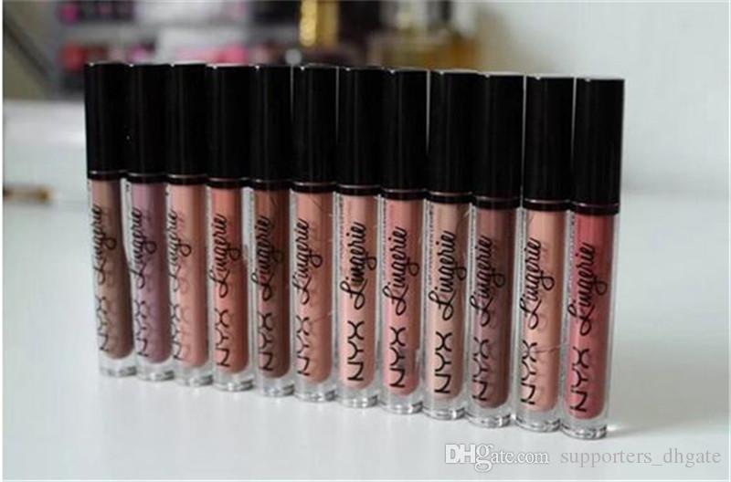 NYX Charm lingerie lipstick long lip 12 lingerie nyx matte colors lipgloss cosmetics lasting waterproof gloss makeup Fashion liquid Bhgmr