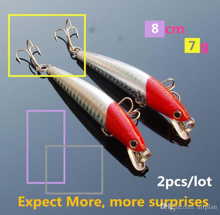 Roter Kopf 3D Augen Minnowfischen Köder Wobbler hart topwater Angelköder Kunstköder Angelzubehör Pesca Haken angehen