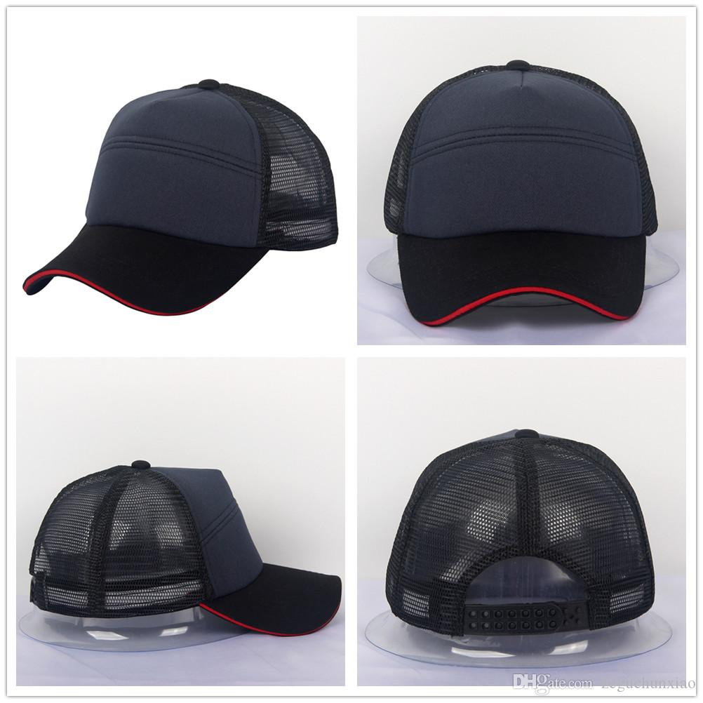 New Plain Baseball Hat Sandwich Curved Bill Ball Cap Hats Black//White