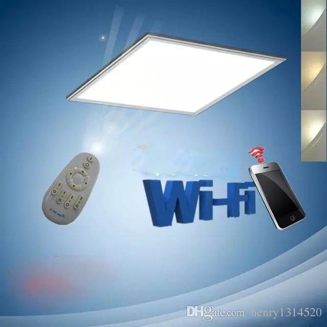 Spedizione gratuita cambia colore (2700-6500K) e dimmerabile pannello LED 36w 600x600mm con lega di alluminio con telecomando 2.4G + materiale PMMA