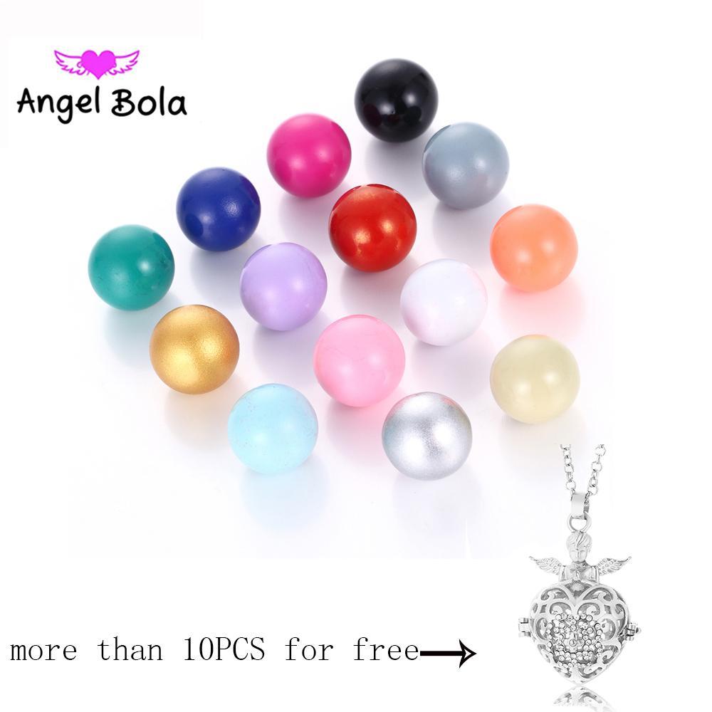 16 milímetros Anjo Bola chamadas Multicolor Mexican Música Bell Ball para gaiola Pingente Mulheres presente Jóias