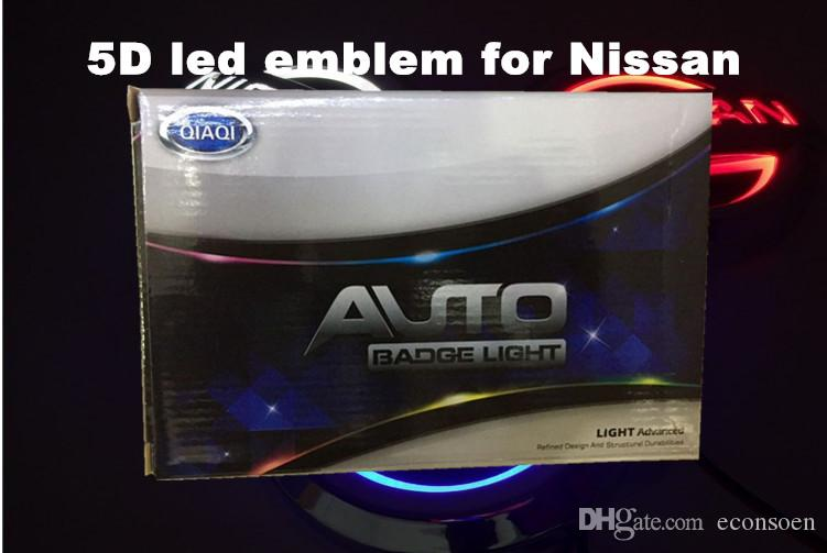Hight Brightness 5d auto LED Emblem Car LED Badge Car Auto Simboli LED Logo Bianco Red Blue Varies Taglie Forni-Ssan