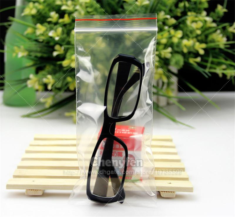 "Free Shipping 100pcs 3""x7"" 2mil Clear Plastic Poly Grip Self Seal Resealable Zip Lock Bags 8x18cm Jewellery bags"