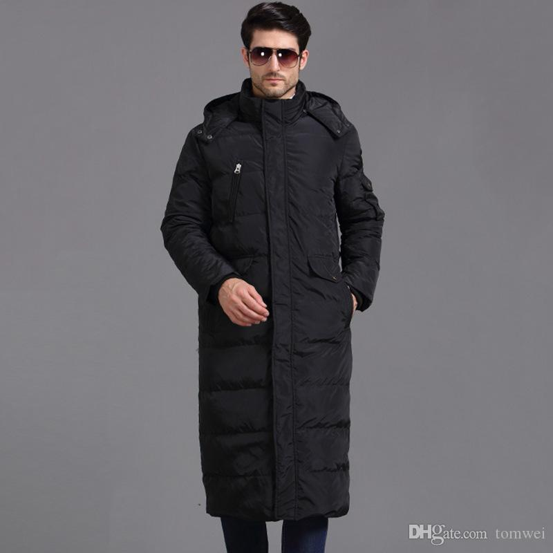 Hood Winter Jacket Men Down Parka Warm Coats Abbigliamento da neve Brand Clothing X Long Thicker Large Size 4XL 90% White Duck Down